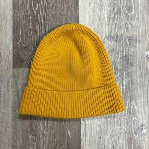 Gap mustard yellow beanie.